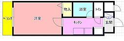 荒本駅徒歩10分 カデンツァ・K[106号室]の間取り