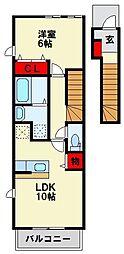 ブローテM・Y Ⅱ[2階]の間取り
