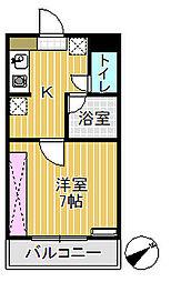 プリンスマンション[102号室]の間取り
