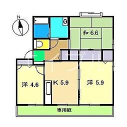 ファミール・ビレジ C棟[1階]の間取り