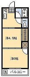 矢口コーポ[205号室]の間取り