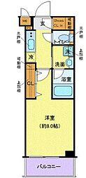 東急東横線 祐天寺駅 徒歩6分の賃貸マンション 2階1Kの間取り