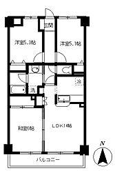 むさしのサンケイマンション[2階]の間取り