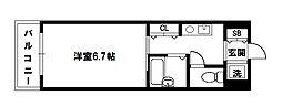 エクセレント上新11[4階]の間取り