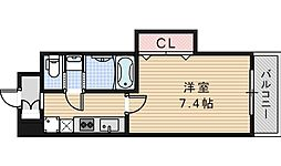 Luxe天王寺[809号室]の間取り