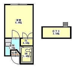 忍ヶ丘マンション1階Fの間取り画像