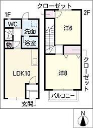 [タウンハウス] 三重県鈴鹿市野辺1丁目 の賃貸【/】の間取り