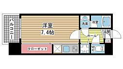 アーデンタワー神戸元町[807号室]の間取り
