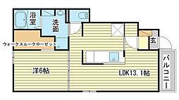 網干区新在家アパート2[102号室]の間取り