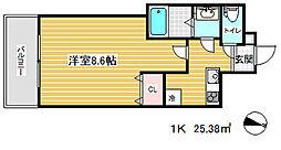 神戸・山手アパートメント[2階]の間取り