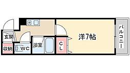 貴王天満橋[9階]の間取り