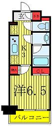JR山手線 駒込駅 徒歩1分の賃貸マンション 4階1Kの間取り