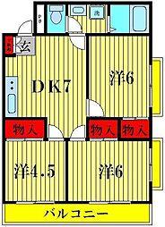 K's FLAT3[2階]の間取り