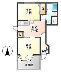 ドリームハウス A[1階]の間取り