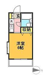 東京都世田谷区赤堤1丁目の賃貸アパートの間取り
