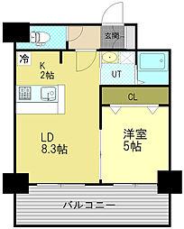 サンコート本通ガーデンヒルズ 9階1LDKの間取り