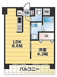 アニマーレ長堀[2階]の間取り
