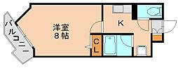 コモンコート博多[2階]の間取り