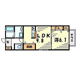 シャーメゾン甲子園口[1階]の間取り