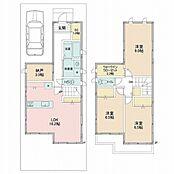 建物参考プラン/木造2階建て3LDK納戸、延床面積101.84m2