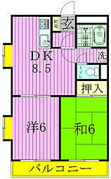 ラフィーヌ・池田3番館[3階]の間取り