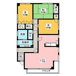 プリオール牧野II[2階]の間取り