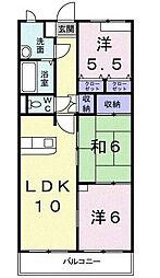 レフィナ−ド[3階]の間取り