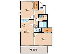 マグノリアコート A棟[1階]の間取り