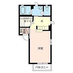 グランメール[2階]の間取り
