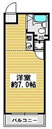 大阪府大阪市東住吉区今林2丁目の賃貸マンションの間取り