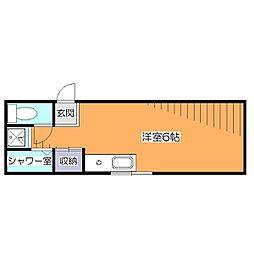 東京都小平市天神町3丁目の賃貸マンションの間取り