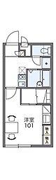 近鉄長野線 富田林駅 徒歩17分の賃貸アパート 2階1Kの間取り