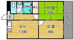 第五金森マンション[4階]の間取り