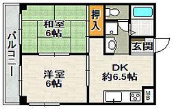 エトワール宝塚[2階]の間取り