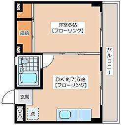 若藤第2マンション[1階]の間取り