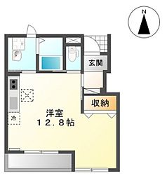 JR山陽本線 高島駅 徒歩23分の賃貸アパート 1階ワンルームの間取り