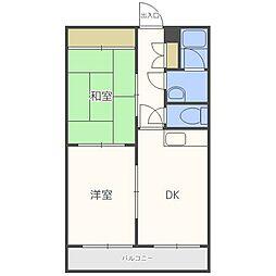 プラチナマンション北21条[5階]の間取り