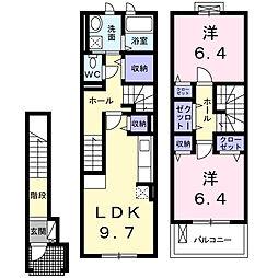 [テラスハウス] 愛知県名古屋市名東区神月町 の賃貸【/】の間取り