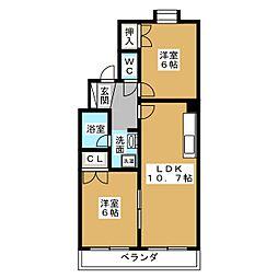 ペルテI[3階]の間取り