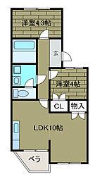 町田グリーンテラス[1階]の間取り