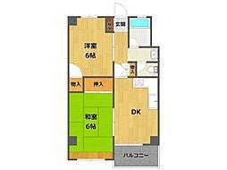 西甲子園ハイツ[5階]の間取り