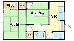 光栄荘[2階]の間取り