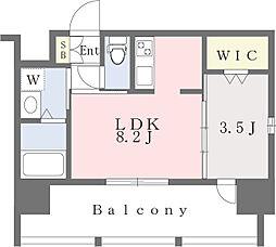西鉄貝塚線 香椎宮前駅 徒歩7分の賃貸マンション 3階1LDKの間取り