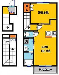 グランフロント大和 3階1LDKの間取り