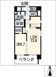 Mio・Rian[6階]の間取り