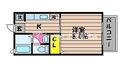 岡山県倉敷市玉島八島丁目なしの賃貸アパートの間取り