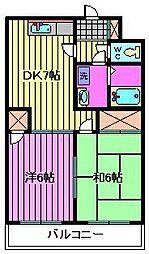 埼玉県川口市西青木1丁目の賃貸マンションの間取り