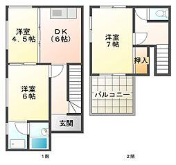 [一戸建] 兵庫県神戸市垂水区舞子台6丁目 の賃貸【/】の間取り