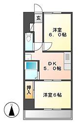 ベルカーサ戸田[4階]の間取り