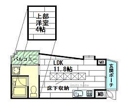 EAST-1[2階]の間取り